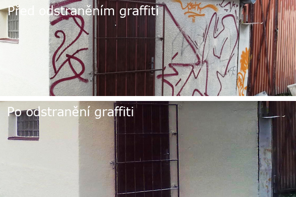 Chemické odstranění graffiti v Praze 1