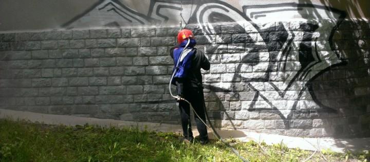 Pískování - odstranění graffity z přírodního kamene Brno