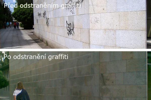 Odstranění grafitů z kamene Brno