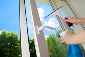 suché leštění oken